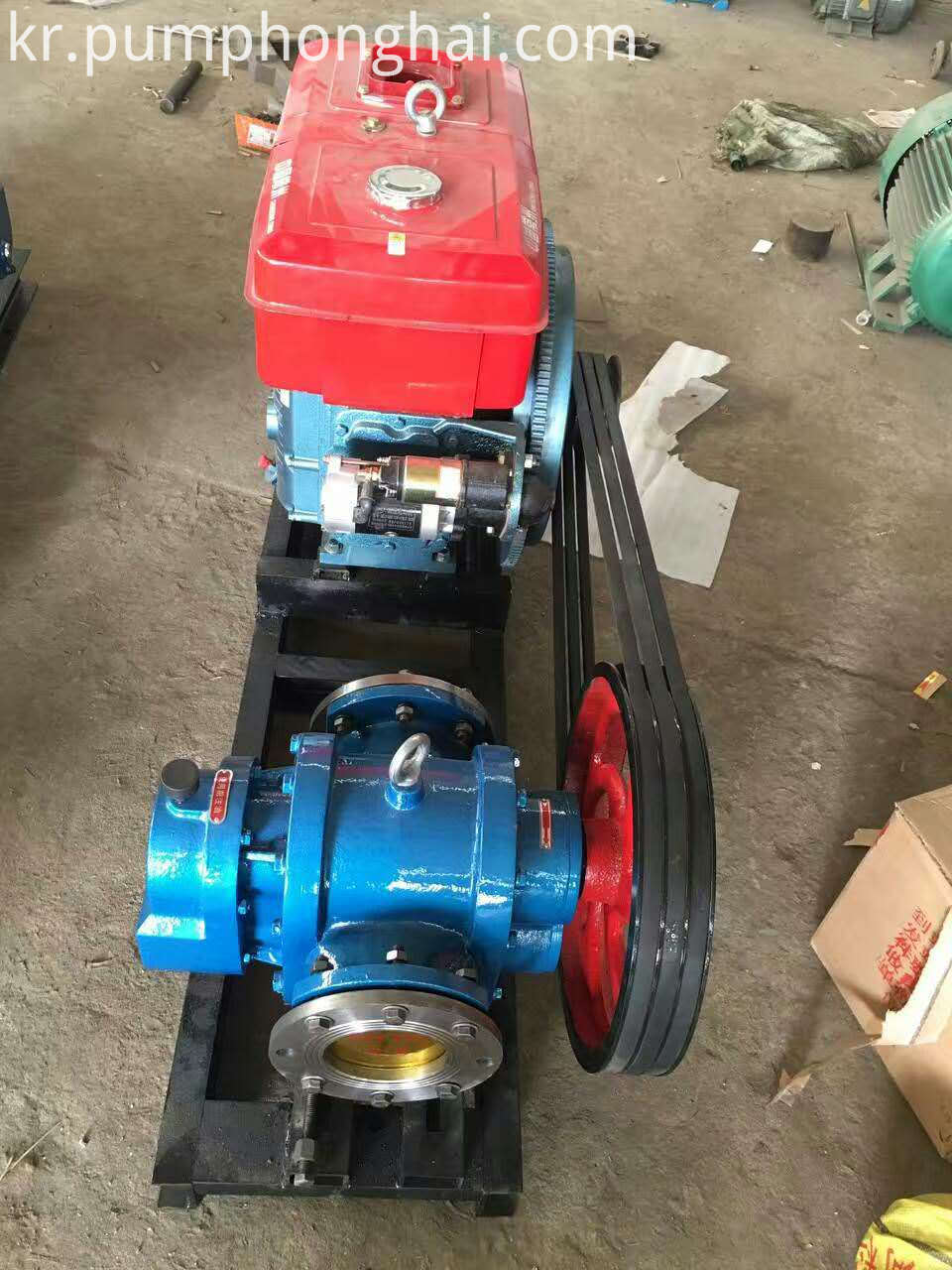 belt and pulley driven pump