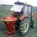 Seed and fertilizer spreader broadcast sower