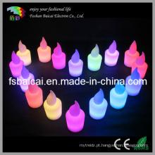 LED vela decorativa mudança de cor da luz