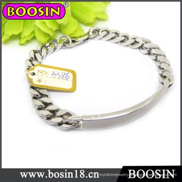 Bracelete conhecido personalizado da barra / bracelete feito sob encomenda / bracelete gravado