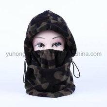 Длинные зимние теплые трикотажные шлем / кепка из флиса