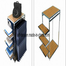 Steel Tube Wooden Display Stand/Shop Display Stand