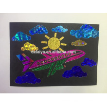 Amazing foil sheet transfer painting art for kids