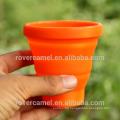 FMP-319 200ml Portable retractable silicon mug ultra-light outdoor camping wash cup