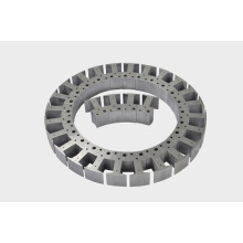 Spliced stator core with high quality