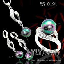 Modeschmuck 925 Silber Perlen Set (YS-0191)