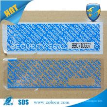 tamper evident printable security tape .custom unique packaging tape