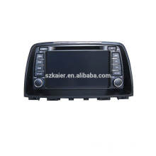 Quad core car gps navigation with wireless rearview camera,wifi,BT,mirror link,DVR,SWC for Mazda 6