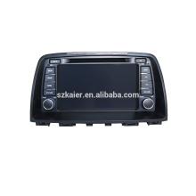Navegação gps do carro do núcleo do quadrilátero com a câmera rearview sem fio, wifi, BT, ligação do espelho, DVR, SWC para Mazda 6