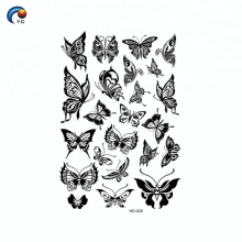 Black body butterfly decoration temporary tattoo sticker