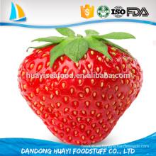 Frutas congeladas al por mayor IQF Fresa congelada cortada en cuadritos, en rodajas, entera, con azúcar