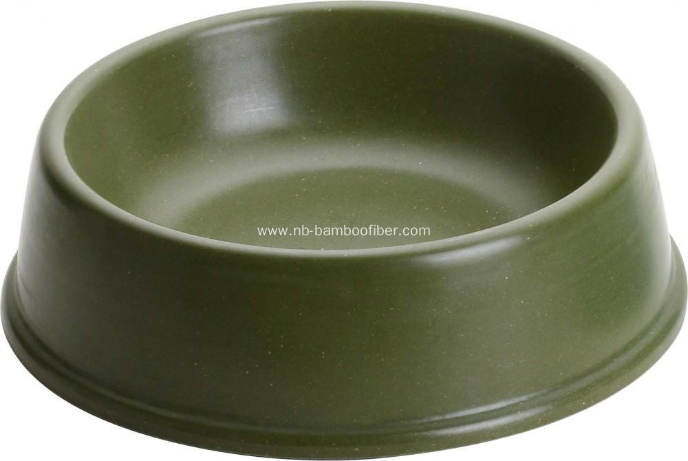 Bamboo fiber conventional pet bowl