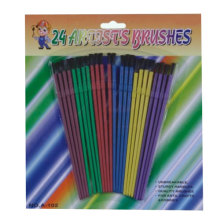 colourful plastic artist brush