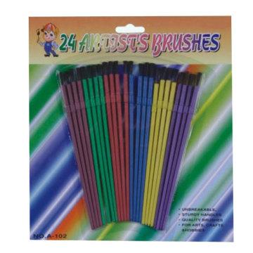 cepillo del artista plástico colorido