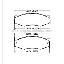 D266 FDB340 FSL340 140526-087 for Nissan Infinit car brake pad