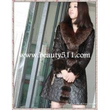 Fah011 Venta al por mayor del OEM piel larga de la ropa de la piel que arropa la piel del minino de la piel del visión del conejo que arropa la chaqueta de la piel