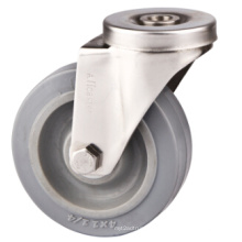 Bolt Hole Shopping Cart Caster, Stainless Steel Casters