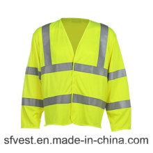 Resistente a la llama de alta visibilidad de manga larga de seguridad de la ropa