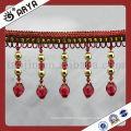 Rideau à rideaux perlés les plus bas Longue rayure en acrylique Longue bordure, bordure de rideau