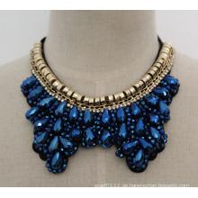 Perlen Kristall Mode Charme Chunky Bib Kostüm Chokerkragen Halskette (JE0007)