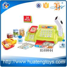 H169844 Caliente simulados escáners traje de compras niños supermercado caja registradora juguete con sonido y luz