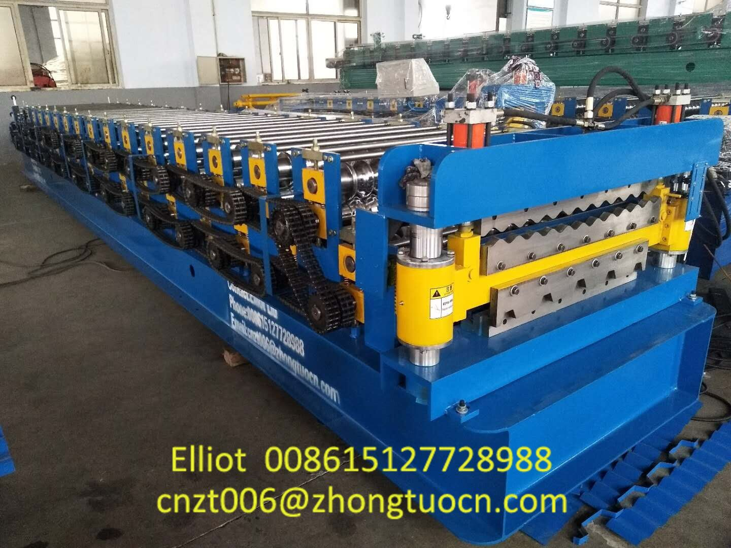 Double Layer Aluminum Roofing Sheet Roll Forming Machine Metal Tile Making Machine