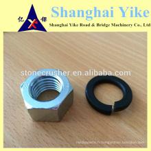 Rondelle de boulon à noix de qualité supérieure avec rondelle de surface 8.8 et noir