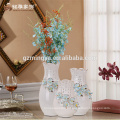 2016 home decoration pieces hot sell ceramic floor crafts wholesale emamel flower ceramic vase
