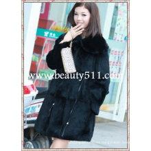 Fah00309 OEM venta al por mayor de piel de prendas de vestir de piel de ropa de piel de conejo de piel de visón piel de ropa chaqueta de piel