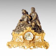 Reloj Estatua Reina Rey Bell Bronce Escultura Tpc-021j