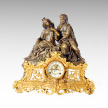 Часы Статуя Королева короля Белл Бронзовая скульптура Tpc-021j