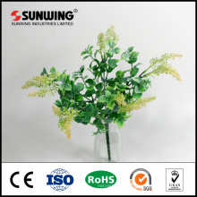 china supplier cheap fire-resistant artificial green leaf for decoration