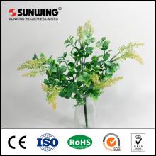 Китай дешево поставщика огнеупорные искусственные зеленые листья для украшения