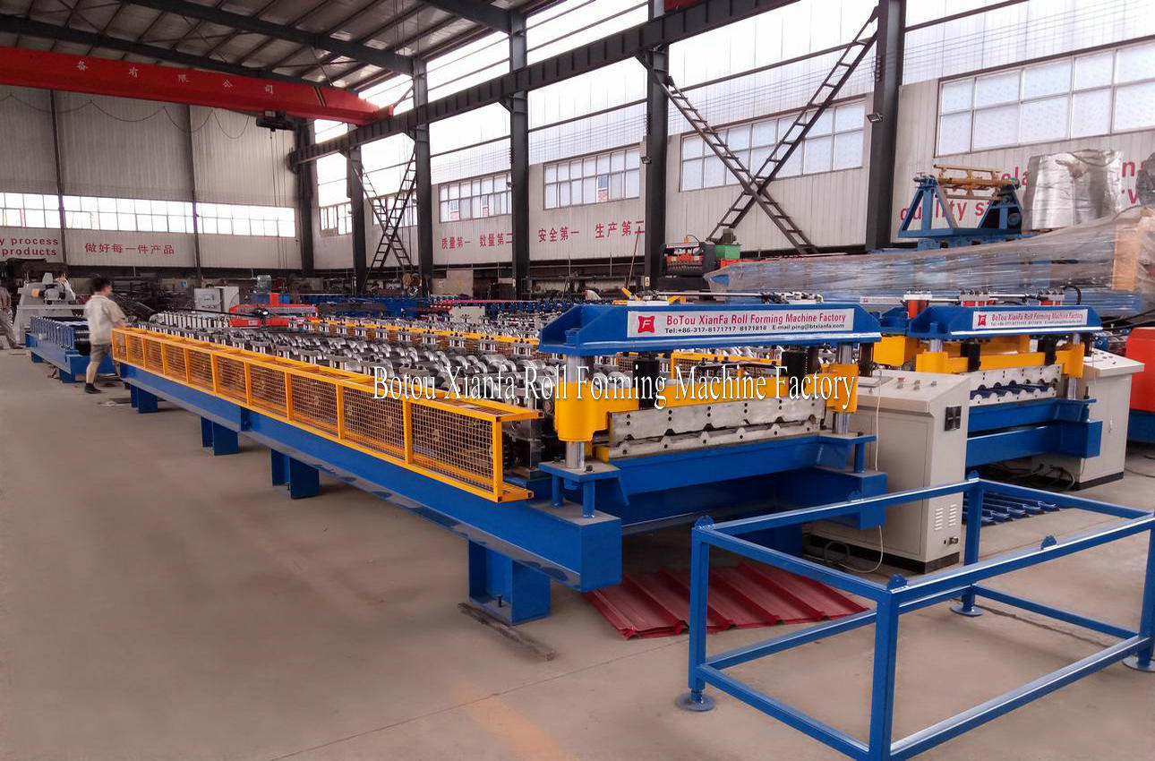 galvanized steel roof panel machine