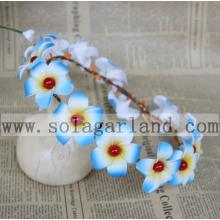 Women Girls Light Blue Floral Garland Hairband Wedding Party Flower Headband