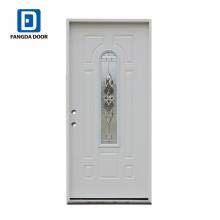 entrée décorative haute définition dalle de porte en verre acier
