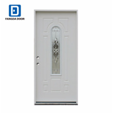 high definition decorative entry steel glass door slab