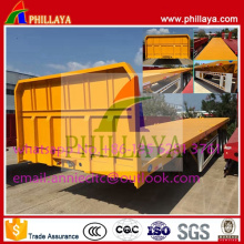 3 Axles Flatbed Container Semi Trailer with Twist Lock