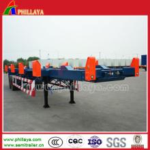 Châssis de récipient de remorque de port de terminal d'axes doubles