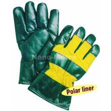NMSAFETY fabricación de guante de trabajo impregnado de nitrilo en China