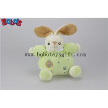 """5.9 """"Sicherheit Kleinkind Spielzeug Plüsch Grün Kaninchen Häschen Baby Spielzeug mit Ring Rattle"""