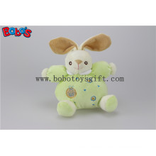 "5.9""Safety Toddle Toys Plush Green Rabbit Bunny Baby Toy with Ring Rattle"
