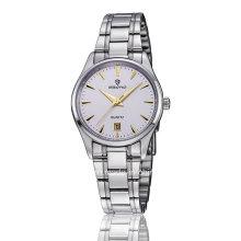 Günstige Edelstahl Quarz Woche und Datum Display Paar Armbanduhr