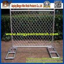 Barato caliente sumergido galvanizado / PVC cubierta de valla temporal