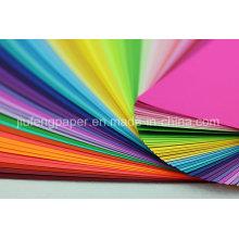 Berühmte 100% Virgin Holz Pulp gefärbt Farbe Papier Falten