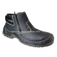 Split Embossed Leather Safety Shoes with Mesh Lining (HQ03057)