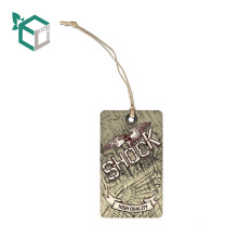 fashion design matt lamination kraft paper garment hang tags