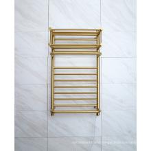Luxury Golden Heated Towel Radiator Stainless Steel 304 Towel Racks Towel Warmer 9048