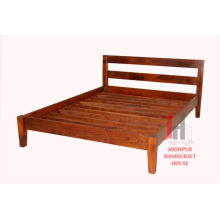Double Wood Bed