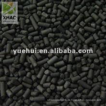 3 ~ 5 mm Zylindrische Aktivkohle auf Kohlebasis für Entschwefelung und Denitrifikation PL3X5